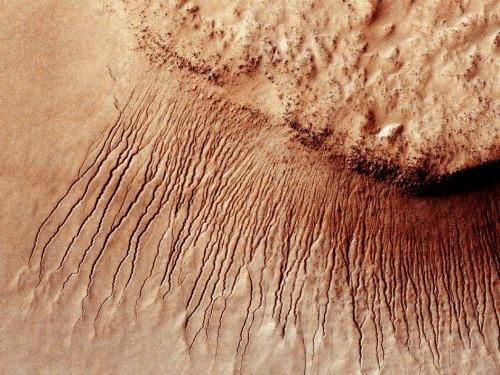 Marte: migliaia di tracce d'acqua nei canyon, l'incredibile scoperta