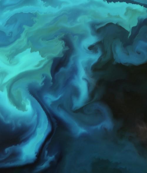 Plancton: l'incredibile colore 'acquerello' del Mare di Barents