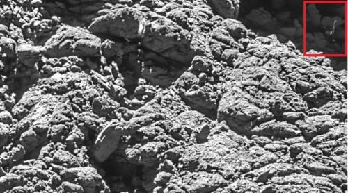 Rosetta ritrova Philae, il lander scomparso tra le rocce della cometa