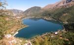 Terremoto: lago a forma di cuore perde tre metri di acqua