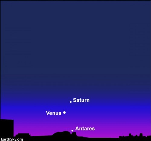 Spazio, al tramonto la congiunzione Venere Saturno