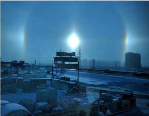 Russia, l'incredibile fenomeno del 'Sole doppio'