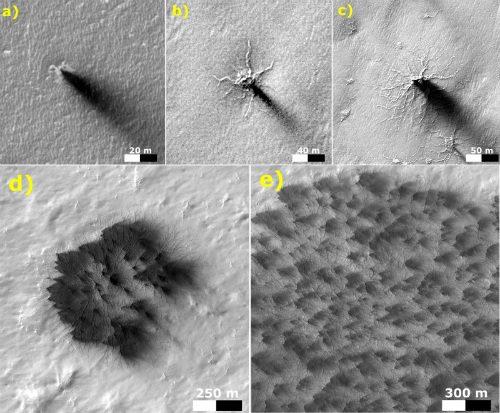 Spazio, le trasformazioni dei ragni marziani osservate dalla Nasa