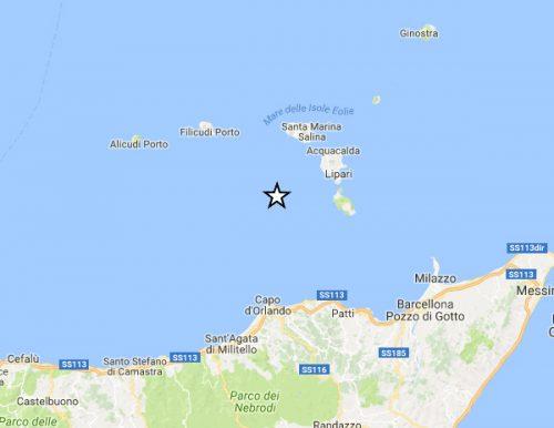 Terremoto Eolie: scossa di 4.0 a largo di Lipari