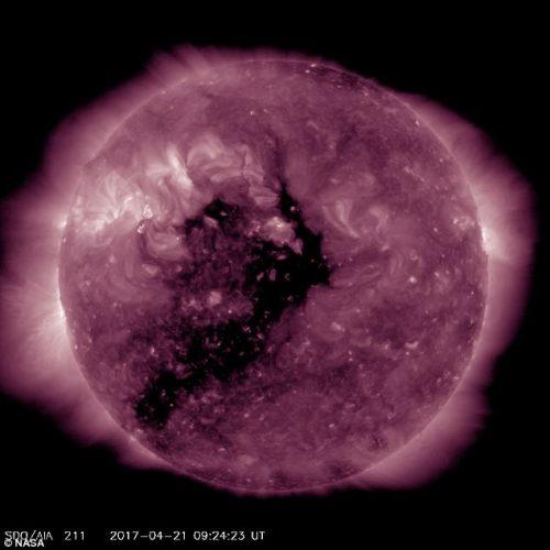 Buco coronale ripreso dalla NASA: possibile tempesta magnetica