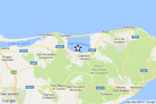 Terremoto Puglia oggi, scossa di magnitudo 3.9 sul Gargano, molte segnalazioni