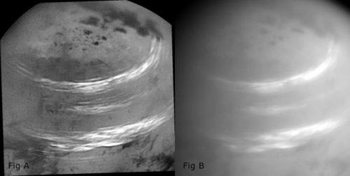 Cassini: l'incredibile immagine delle nubi di Titano