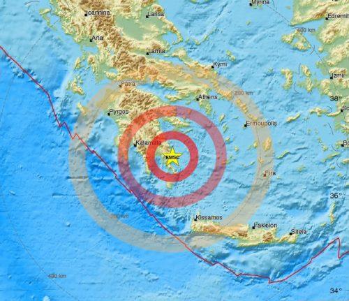 Terremoto Grecia: scossa nel Peloponneso, trema Atene