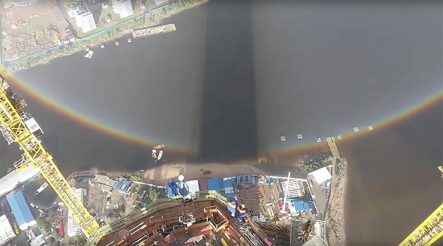 Arcobaleno 'circolare' appare a San Pietroburgo: il video