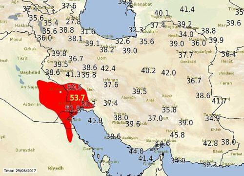 Iran: temperature record, 53.7 gradi ad Ahwaz