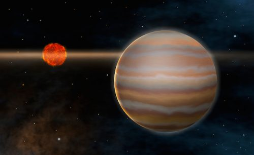 Scoperto pianeta gigante ricco di acqua ed avvolto da nubi