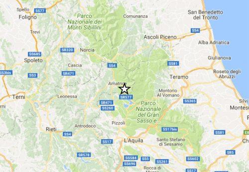 Terremoto Centro Italia: scossa di magnitudo 4.2 a Campotosto