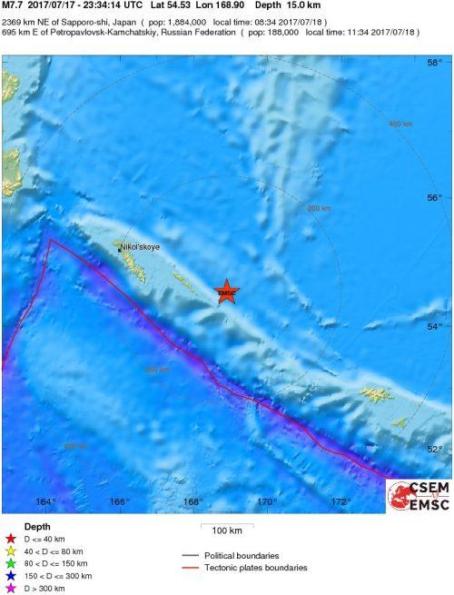 Terremoto Russia: fortissima scossa di magnitudo 7.7 Richter