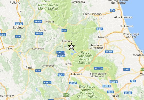 Terremoto: nuova  scossa a Campotosto, paura tra L'Aquila e Rieti