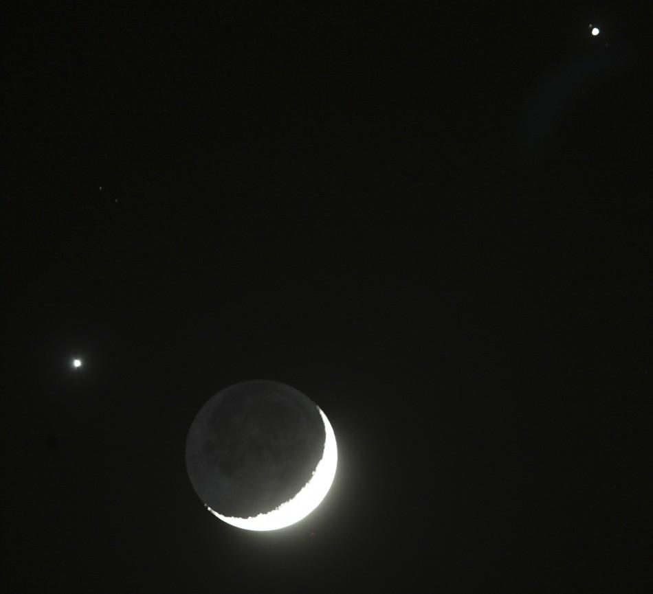 Congiunzione a tre, in arrivo lo spettacolo con Luna, Marte e Venere