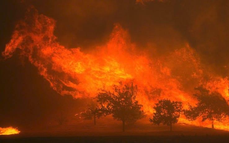 Incendi in California: previsti venti forti, rischio nuovi focolai