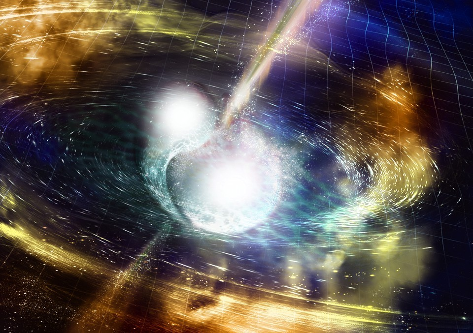Fusione stelle di neutroni: l'incredibile quantità di oro e platino prodotta