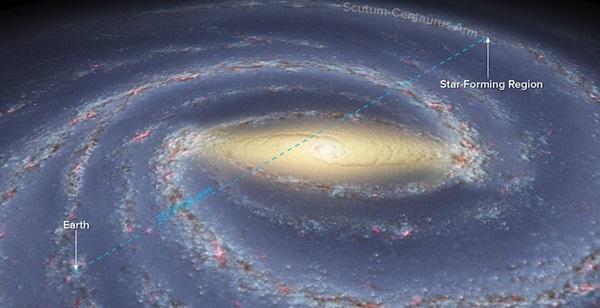 Via Lattea: osservata il braccio più lontano, un risultato storico