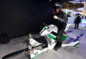 A Dubai arriva la motocicletta drone per la polizia