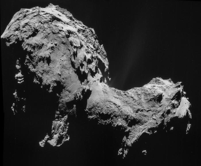 Sonda Rosetta e cometa 67P/Churyumov-Gerasimenko, la foto della scia