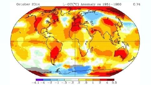 Ottobre bollente, quello appena concluso sulla Terra è stato il più caldo di sempre