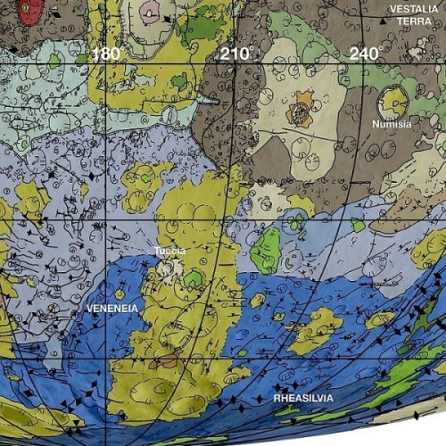 Rilasciata una carta geologica dell'asteroide Vesta