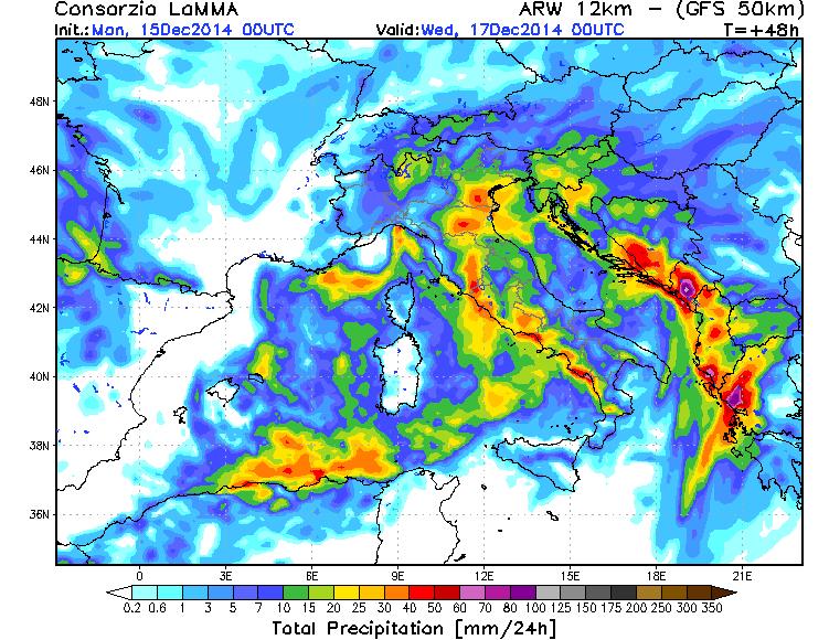 Previsioni meteo Italia, maltempo e temporali per il 15, 16 e 17 Dicembre 2014