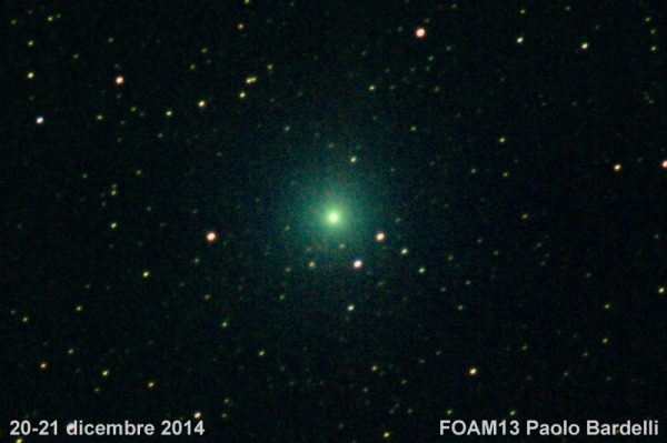 Cometa Lovejoy: da oggi, Mercoledì 7 Gennaio 2015, sarà visibile ad occhio nudo
