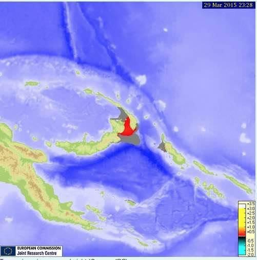 Tsunami Papua-Nuova Guinea: onde alte fino ad un metro e mezzo, allarme rientrato