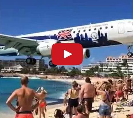 Atterraggio al cardiopalma di un aereo a Saint Martin, accade ogni giorno, il video