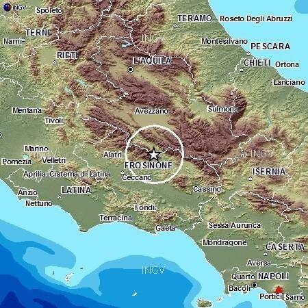 Terremoto Lazio: registrata scossa di magnitudo 3.2, avvertita da molte persone