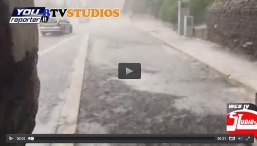 Grandine Roma: nubifragio sulle zone centrali della città, il video