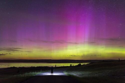 Straordinarie aurore boreali a basse latitudini in Europa