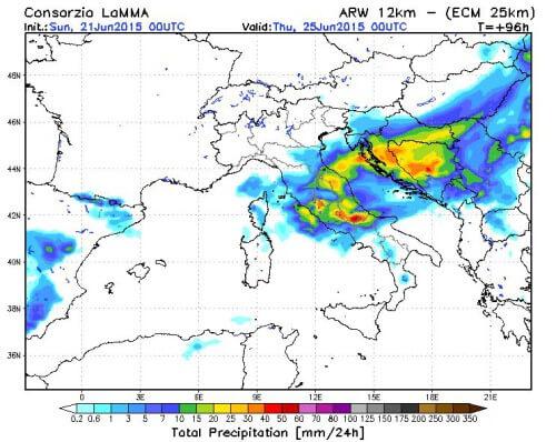 Tendenza meteo: forte perturbazione Mercoledì 24 Giugno, preceduta e seguita da stabilità