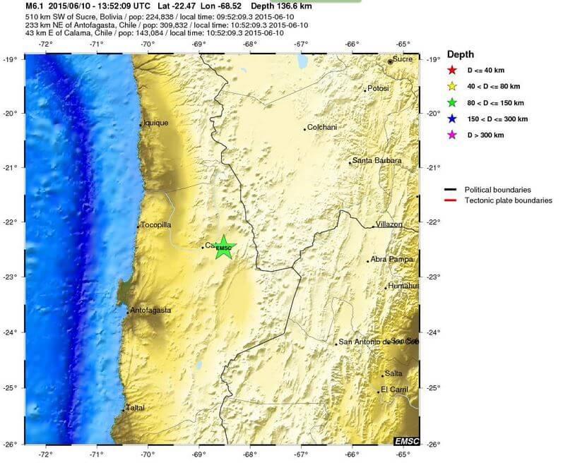 Terremoto Cile: forte scossa sismica nel Nord del paese