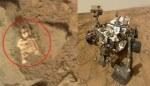 Misteriosa foto di Curiosity su Marte, forse uno fossile umano
