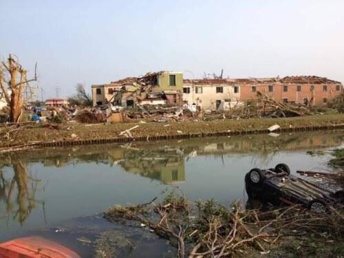 Tromba d'aria Veneto: due morti e quindici feriti, danni gravissimi