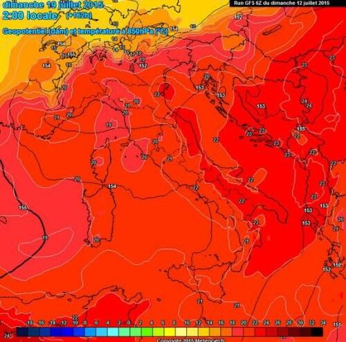 Caldo in arrivo sull'Italia, forte aumento termico nella prossima settimana