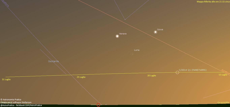 Cometa C/2014 Q1 PanSTARSS: ecco dove e come avvistarla