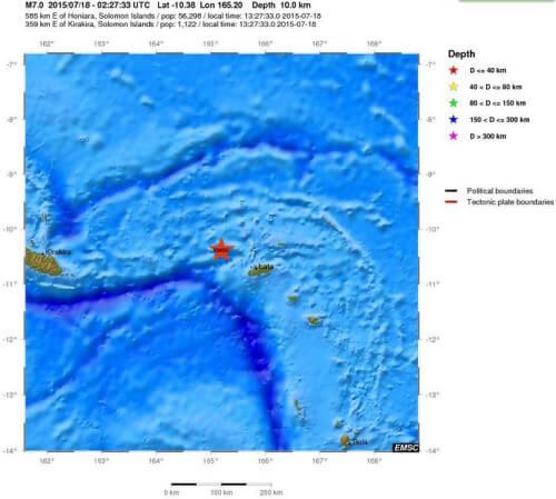 Terremoto 7.0 della scala Richter a Santa Cruz, rimossa l'allerta tsunami