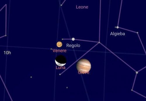 Allineamento Giove, Venere e Luna: questa sera spettacolare triangolazione nei cieli