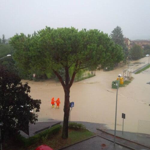 Alluvione in atto in provincia di Siena, Monteroni d'arbia sott'acqua