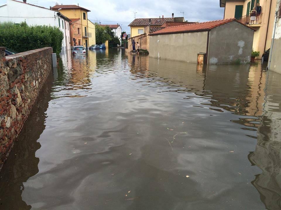 Nubifragi in Toscana, a Pisa caduti oltre 120 millimetri di pioggia