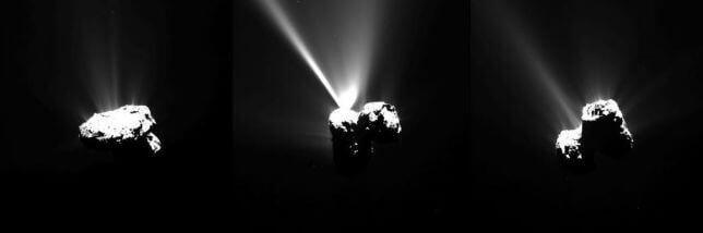 Sonda Rosetta, fotografato l'incontro esplosivo con il Sole