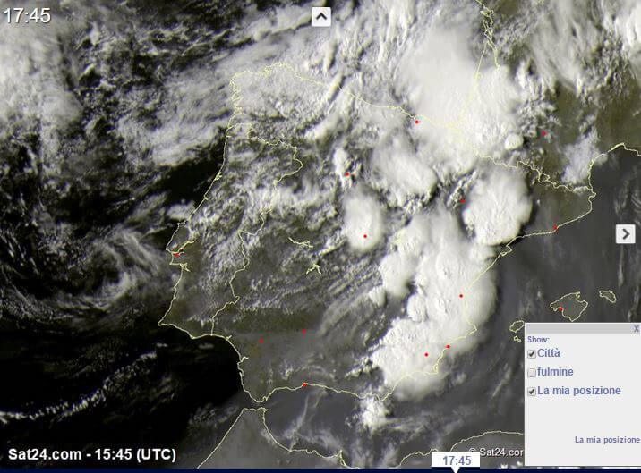 Violenti temporali in atto su Francia e Spagna, entro 48 ore anche al Centro-Nord Italia