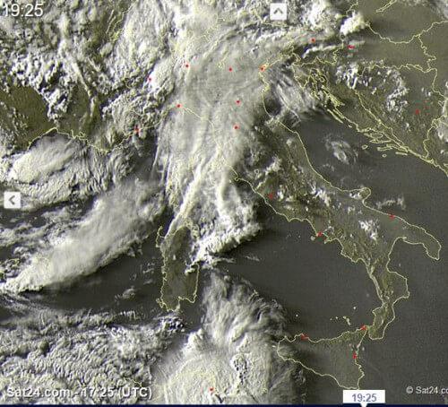 Temporali intensi al Nord e sul Canale di Sicilia, la situazione