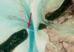 La foto dell'aereo visto dall'alto della Stazione Spaziale Internazionale