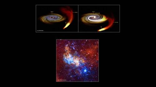 Le immagini del buco nero che banchetta al centro della Via Lattea