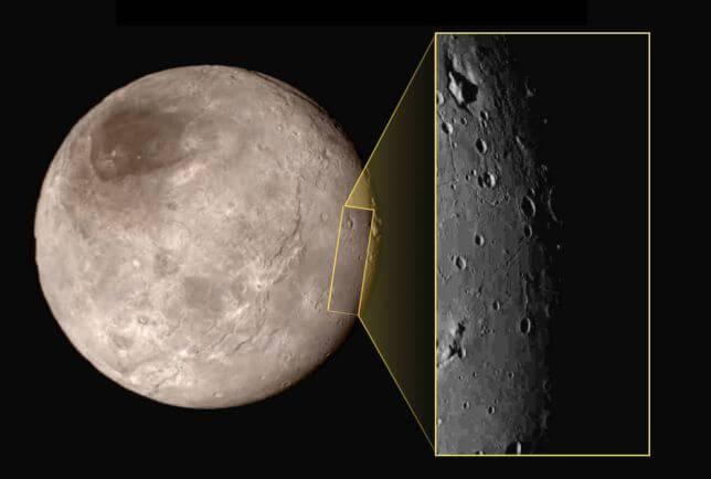 New Horizons scopre una depressione con una montagna al centro su Caronte