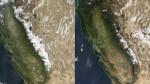 California, l'avanzata della siccità in una foto